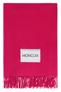 Wool scarf with fringes, Scarves Moncler woman