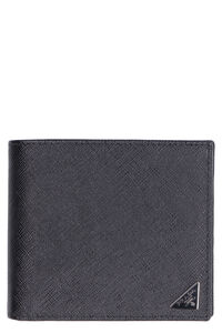 Saffiano leather card holder, Wallets Prada man
