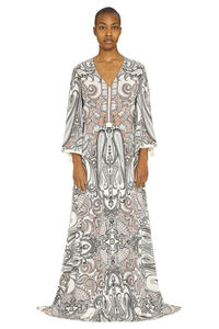 Paisley print silk gown, Printed dresses Etro woman