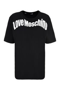 Logo print cotton T-shirt, T-shirts Love Moschino woman