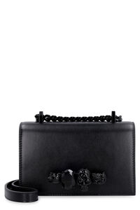 Jewelled Satchel leather mini-bag, Top handle Alexander McQueen woman