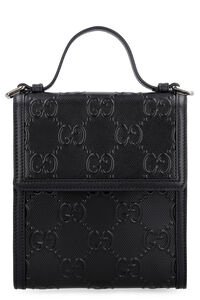 All over GG motif leather crossbody bag, Messenger bags Gucci man