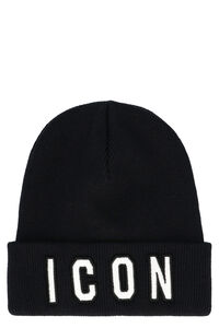 Icon ribbed wool beanie, Hats Dsquared2 man
