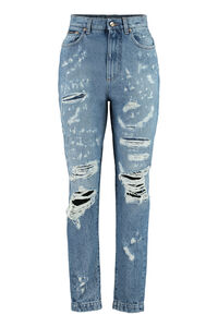 Amber worn-out details jeans, Straight Leg Jeans Dolce & Gabbana woman