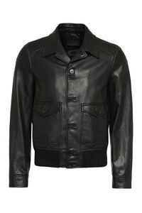 Leather jacket, Leather jackets Prada man