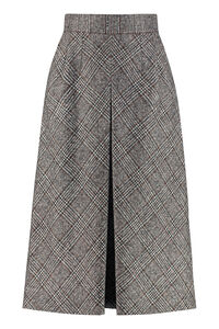 Check pattern wool skirt, Midi skirts Dolce & Gabbana woman
