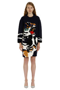 Intarsia knit-dress, Knee Lenght Dresses Kenzo woman