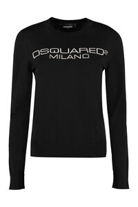 Virgin wool pullover, Crew neck sweaters Dsquared2 woman