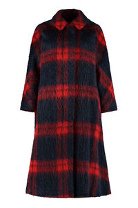 Oversize checked coat, Long Lenght Coats Red Valentino woman