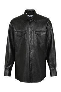 Faux leather shirt, Plain Shirts MSGM man