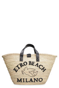Raffia handbag, Top handle Etro woman