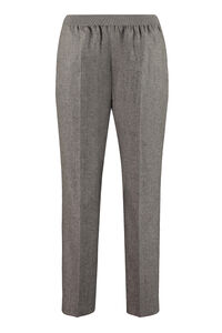 Wool and mohair tailored trousers, Straight Leg pants Agnona woman