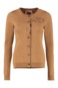 Wool blend cardigan with nacre buttons, Cardigan N°21 woman
