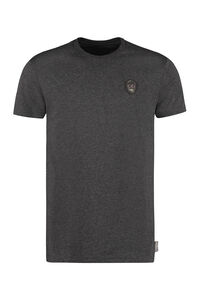 Patch detail cotton t-shirt, Short sleeve t-shirts Philipp Plein man