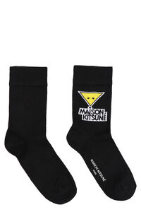 Logo cotton blend socks, Socks Maison Kitsuné man