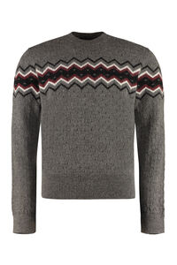 Crew-neck wool-alpaca blend sweater, Crew necks sweaters Dsquared2 man