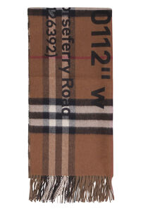 Cashmere scarf with fringes, Scarves Burberry woman