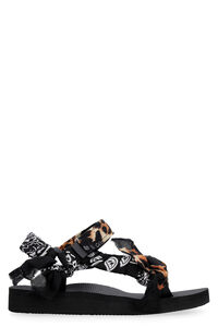 Trekky Leopard print-Bandana sandals, Flat sandals Arizona Love woman