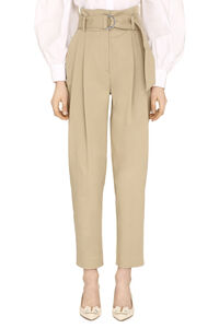 High-waist tapered-fit trousers, Tapered pants Parosh woman