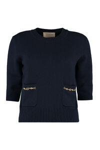 Cashmere sweater with double G, Crew neck sweaters Gucci woman