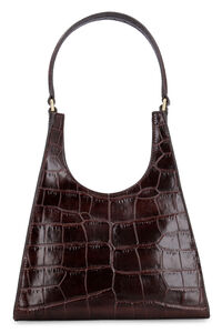 Rey croco-print leather bag, Top handle Staud woman