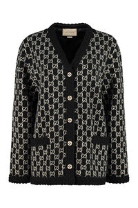 Cardigan with metal buttons, Cardigan Gucci woman