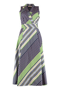Wrap dress with belt, Printed dresses Tory Burch woman