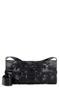 The Stretch leather messenger bag, Messenger bags Bottega Veneta man