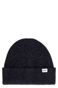 Ribbed knit wool beanie hat, Hats A.P.C. man