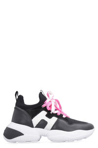 Interaction leather and knit sneakers, Low Top sneakers Hogan woman