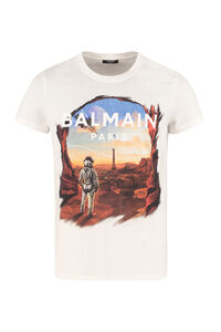 Printed cotton T-shirt, Short sleeve t-shirts Balmain man
