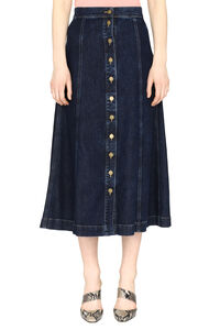 Denim midi skirt, Denim Skirts L'Autre Chose woman