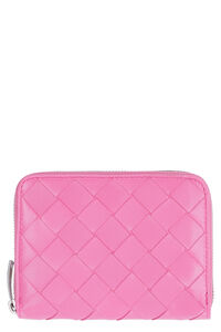 Intrecciato Nappa zipped coin purse, Wallets Bottega Veneta woman
