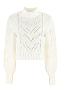 Openwork-knit pullover, Crew neck sweaters Red Valentino woman