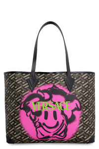 Coated canvas and leather shopping bag, Tote bags Versace woman