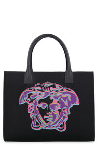 Logo canvas tote, Tote bags Versace woman