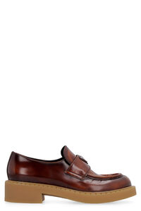 Brushed leather loafers, Loafers Prada woman
