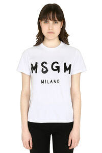 Printed cotton t-shirt, T-shirts MSGM woman