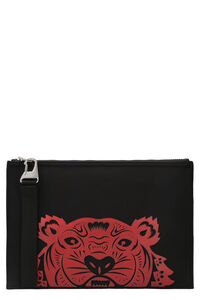 Tiger A4 flat pouch, Poches Kenzo man