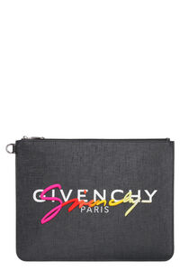 Logo detail flat pouch, Poches Givenchy man