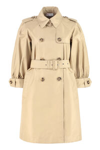 Gabardine trench coat with puffed sleeves, Raincoats And Windbreaker Red Valentino woman