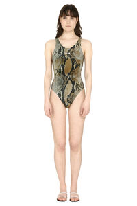 Printed one-piece swimsuit, One-Piece MSGM woman