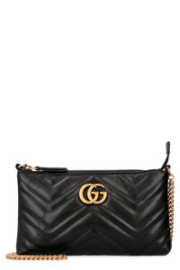 GG Marmont leather wallet on chain, Clutch Gucci woman