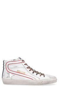 Slide leather high-top sneakers, High Top Sneakers Golden Goose man