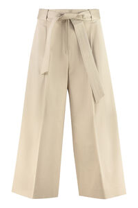 Ghisa cotton gabardine cropped pants, Cropped pants Max Mara woman