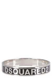 Enamelled logo brass bracelet, Bracelets Dsquared2 woman