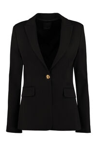 Signum single-breasted viscose blazer, Blazers Pinko woman