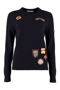 Patches cashmere pullover, Crew neck sweaters Tory Burch woman