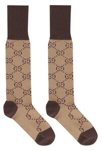Cotton blend socks with log