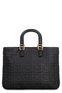 Leather handbag, Top handle Fendi woman
